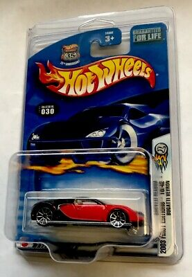 Hot Wheels 2003 First Editions Bugatti Veyron 18/42 Black & Red. GREAT COND.VHTF