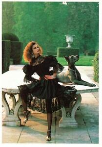 Yves Saint Laurent Rive Gauche Dress 1981-1982 by Helmut Newton Fashion Postcard