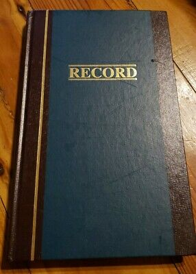Wilson Jones Record Book 11-34 X 7-14 Ruled 300 Pages 35 Lines S300