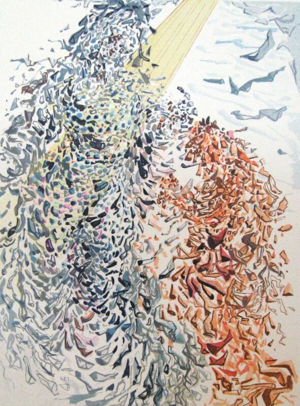 Salvador Dali The Divine Comedy Paradise #11 Woodblock Fine Art Print Make Offer