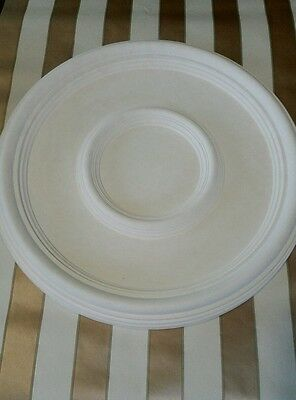 "Plaster Ceiling Rose Plain Traditional Victorian  Design 430 mm / 17"" Hand Made"