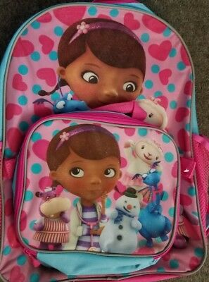Disney Junior Doc Mc Stuffin Backpack w/ Matching Lunch Box New 2015](Doc Stuffin)
