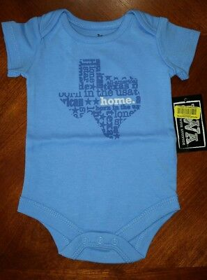 baby boy Texas USA theme bodysuit New w/ Tags 3 months Babies With Attitude