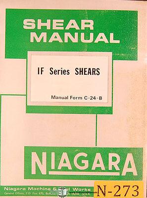 Niagara If Series Shears Operations And Maintenance Manual 1976