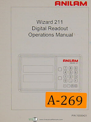 Anilam 211 Wizard Dro 52 Page Programming Operations Manual 1998