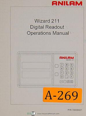 Anilam 211 Wizard Dro 52 Page Programming Operations Manual 1998