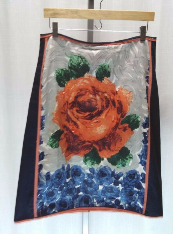 Anthropologie Aquarius Floral Pencil Skirt Size 6 -- Beautiful, Unique -- #143