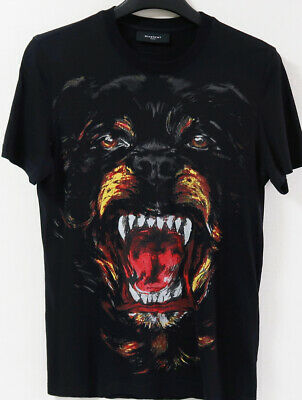 RARE GIVENCHY 2011 ROTTWEILER Print T-Shirt Tee 100% Authentic Made in Portugal