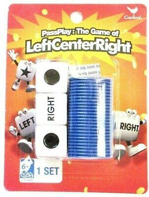 Left Center Right Dice Game with Velvet Drawstring Storage Bag