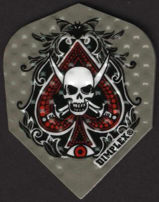 Skull Ace Of Spades Dimplex Dart Flights  3 Per Set