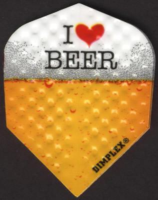 """""""I Love Beer"""" Dimplex Dart Flights: 3 per set"""