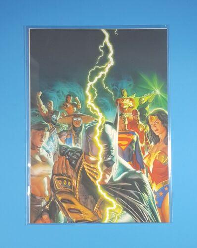 """DC Comics Universe vs Mortal Kombat 5""""x7"""" Canvas Print Promo Alex Ross Art 2008"""