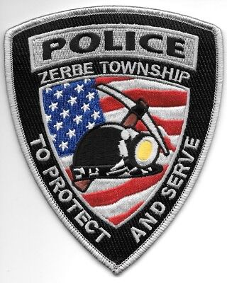 "Zerbe Township, PA  (4"" x 5"" size) shoulder police patch (fire)"