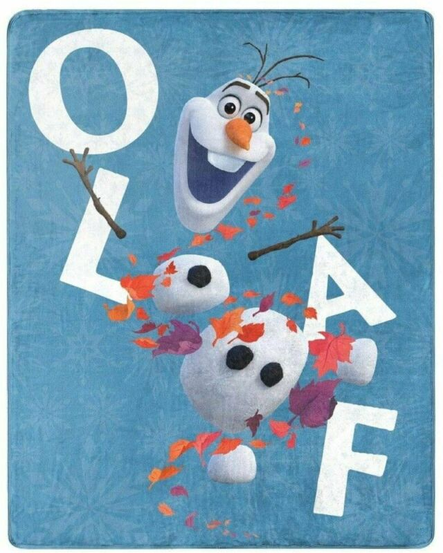 "Northwest Enterprises Disney Frozen 2 Olaf Silky Soft Throw Blanket 40"" x 50""..."