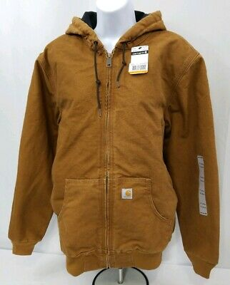 Carhartt Women's WJ130 Sandstone Active Hooded Jacket. Ladies size LARGE. -