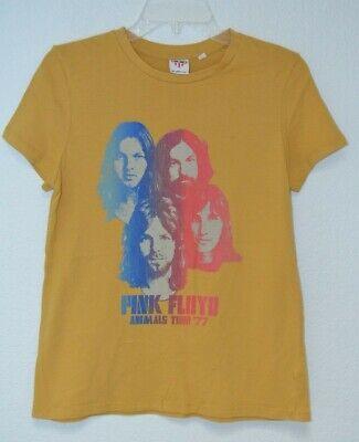 Womens Junk Food Pink Floyd Animals Tour graphic T shirt Gold size M Cotton