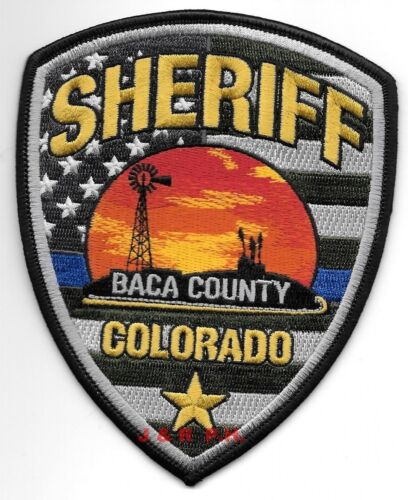 "Baca County  Sheriff, Colorado  (4"" x 5"" size)  shoulder police patch (fire)"