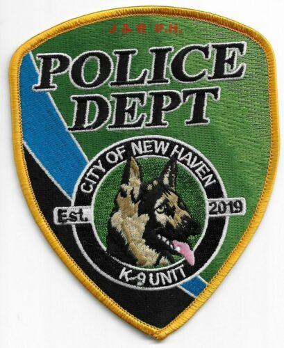 "City of New Haven  K-9 Unit, Missouri (4"" x 5"") shoulder police patch (fire)"