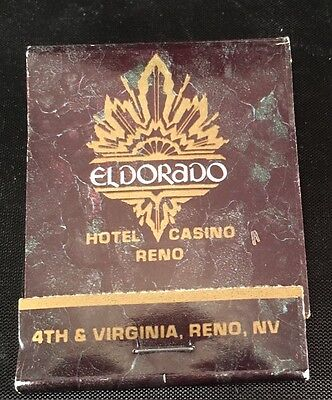 Unused Vintage Eldorado Hotel Casino Resort Matchbook Reno Nevada 20 Strike