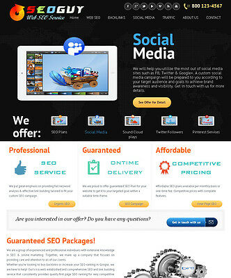 Social Marketing Seo Backlink Services Reseller Website - Free Install Host