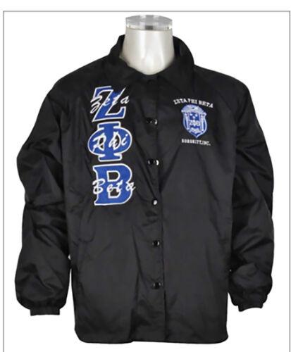 Zeta Phi Beta Sorority Line Jacket- Black- Size Large- New!
