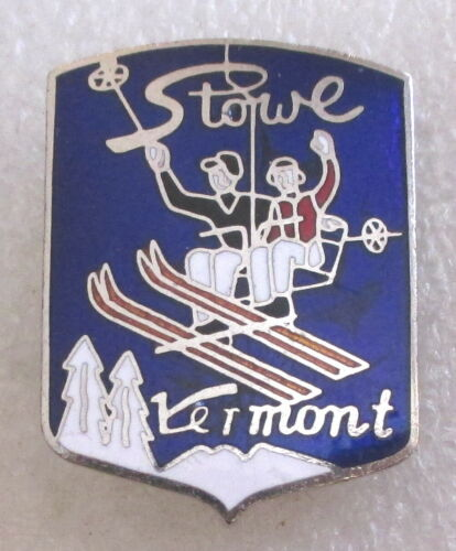 Stowe Ski Resort Skiing Souvenir Collector Pin - Vermont Chairlift