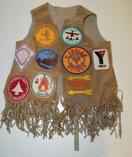 Vintage Indian Guide YMCA Youth Program Leather Child