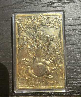 1999 Charizard 23K Gold Plated Burger King Limited Edition Pokemon Card