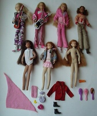 LOT OF 7 ONLY HEARTS CLUB DOLLS ~ ACCESSORIES ~ BRIANNA TAYLOR KARINA ANNA LILY