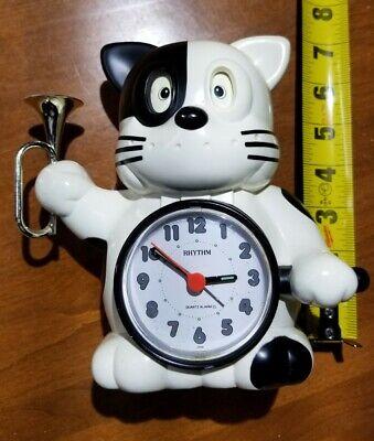 Rhythm Japanese Cat talking Alarm Vintage WITH BOX & INSTRUCTIONS (VERY RARE!)