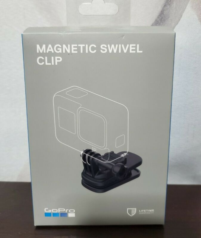 GoPro Magnetic Swivel Clip ATCLP-001 /360' Rotation - Black New, Complete