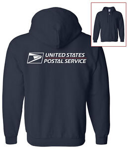 USPS-POSTAL-FULL-ZIPPED-HOODIE-WITH-FULL-POSTAL-LOGO-ON-BACK-All-Sizes-S-XXXL