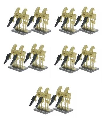 Lego Star Wars Compatible Lot of 20 Battle Droid Minifigures Set + Blasters