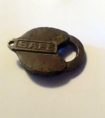 Vintage Brass SAFE LOCK ~ Padlock ~ No Key