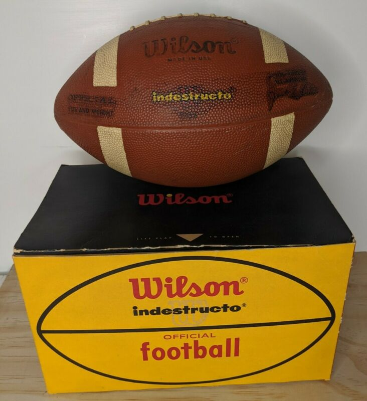 Vintage Wilson Indestructo Official Football F1530