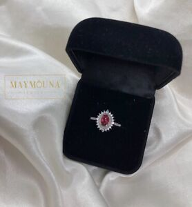 Silver plated Ring + Ruby Red Stone for January! BNIB