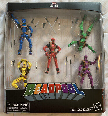 Marvel Legends DEADPOOL RAINBOW SQUAD 5-Pack 3.75 Inch NIB New in Box SEALED