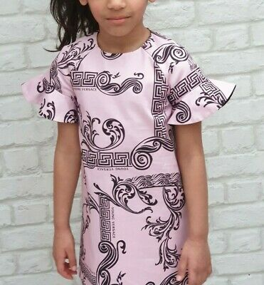 NEW Gorgeous Young Versace RRP £299 Pink Dress Top 6 YEARS kids Girls A213