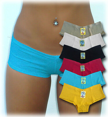 One sexy boyshort panties cotton low rise S, M, L or XL FREE SHIPPING TO -
