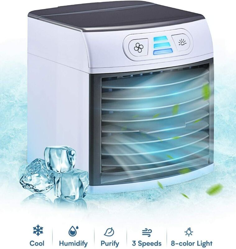 (2 Pack) Breezy Air Cooler Portable Fan Mini Air Conditioner