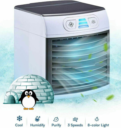 Home Innovations - Breezy Arctic Air Cooler Portable Fan Ice Cold Mini Air Condi