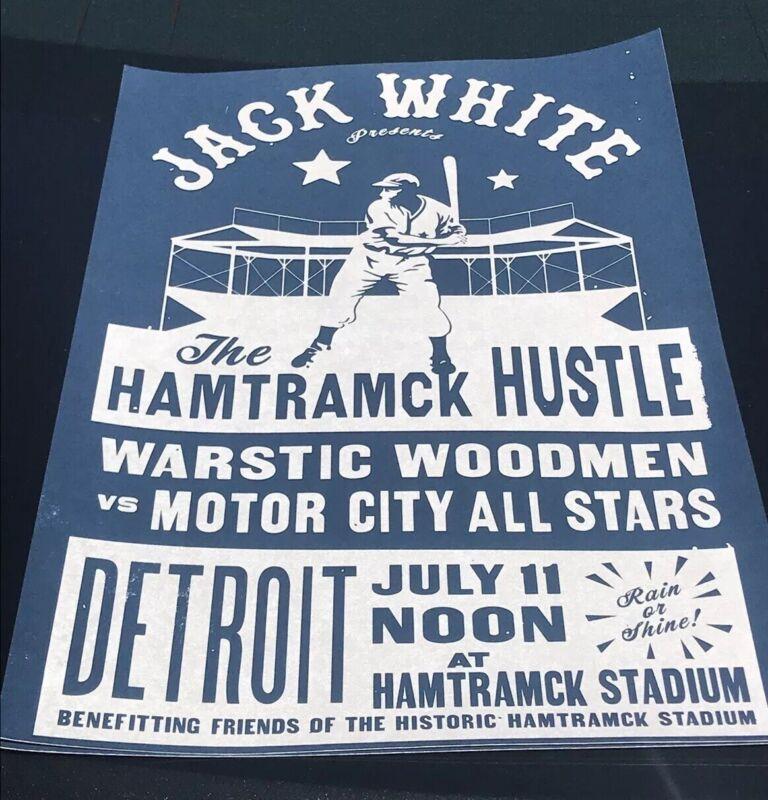 Jack White Charity Baseball Concert Poster 7/11/19 Hamtramck Negro Game Rare /75