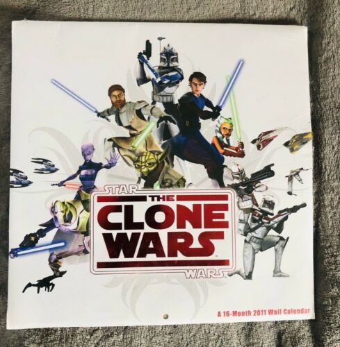 2010 Disney Star Wars The Clone Wars 16-month Sealed Never Used