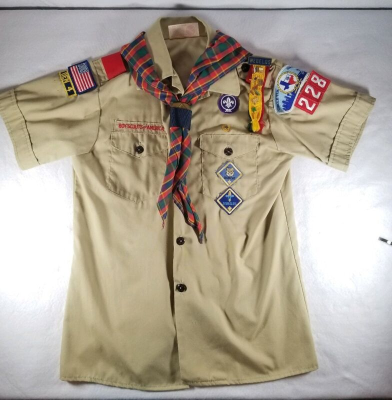 Boy Scouts of America BSA Shirt Short Sleeve Official Youth Large W/ Accessories