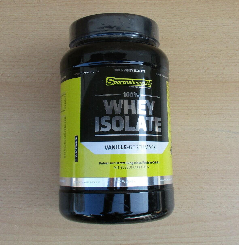 1000 g Sportnahrung.de 100% Whey Isolate Protein - Vanille (17,00€/kg)