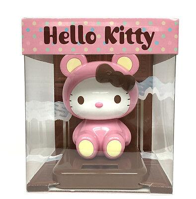 Sanrio Hello Kitty Solar Powered Toy - Pink Chocolate Bear Costumed - Hellokitty Costume