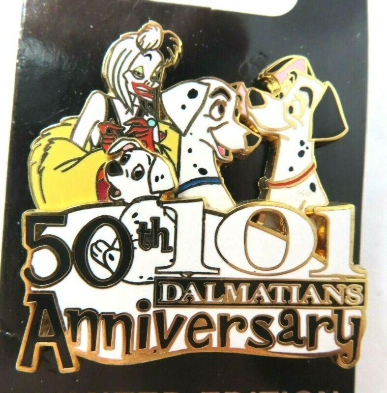 Disney Pin One Hundred & One Dalmatians 50th Anniversary Error LE 1000 #81757