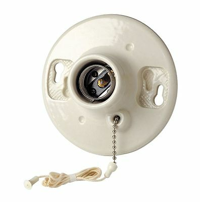 (Leviton 29816-C Medium Base Porcelain Outlet Box Mount Incandescent Lampholder)