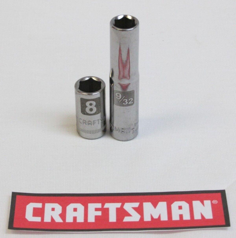 "1/4"" Drive Craftsman Easy Read Socket 6 or 12pt MM or SAE St"