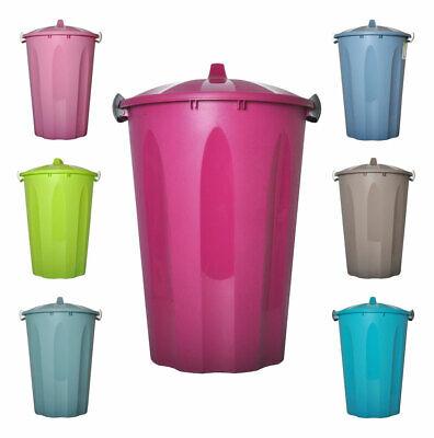 Plastik Deckeleimer 40L + Deckel Universaltonne Mülltonne Abfalleimer Mülleimer